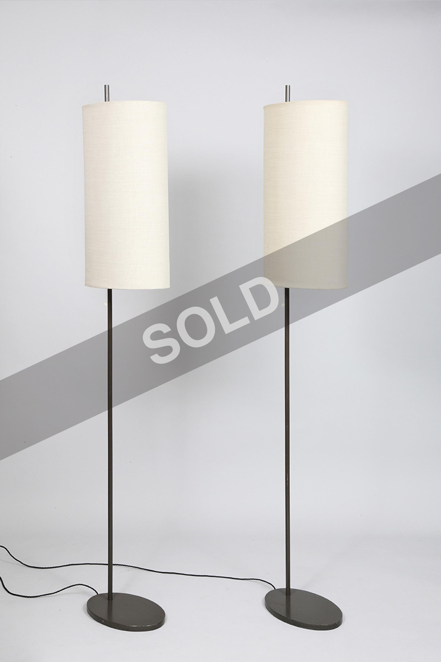 Arne Jacobsen floor lamps (sold)