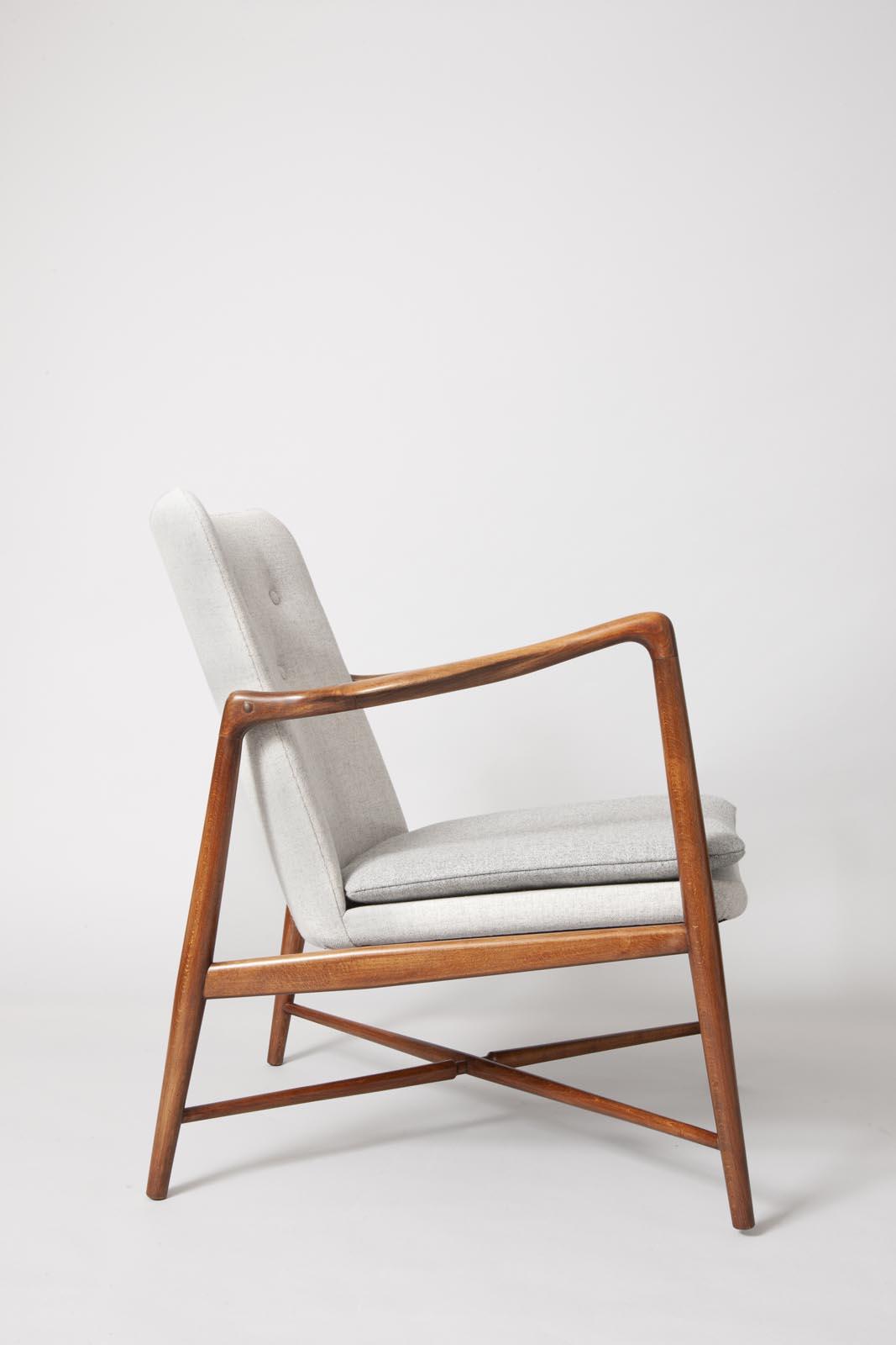 Finn Juhl birch and new wool chairs