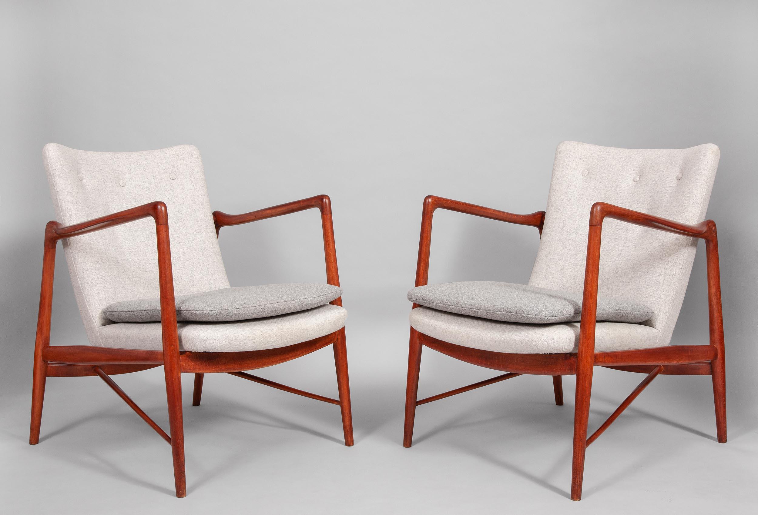 Finn Juhl Bovirke armchairs
