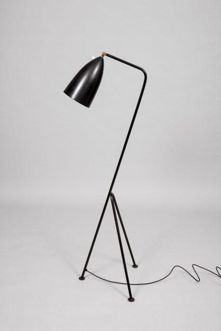 Greta Grossman black painted metal lamp Sweden 1947