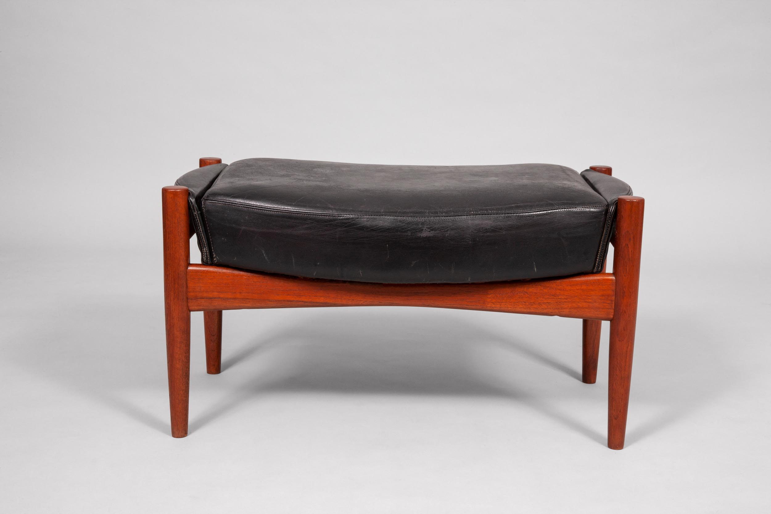IB Kofod Larsen, chair and stool, Denmark/Sweden, 1955