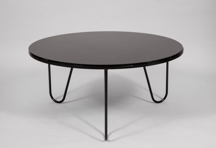 Mathieu Margot black opaline glass table, France 1955