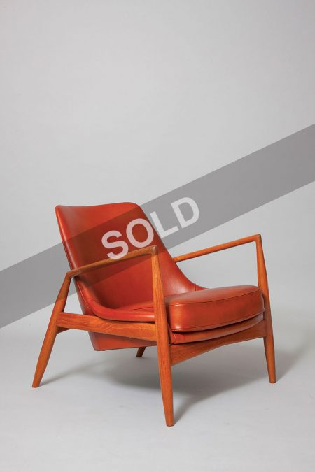 IB Kofod Larsen teak and leather chairs