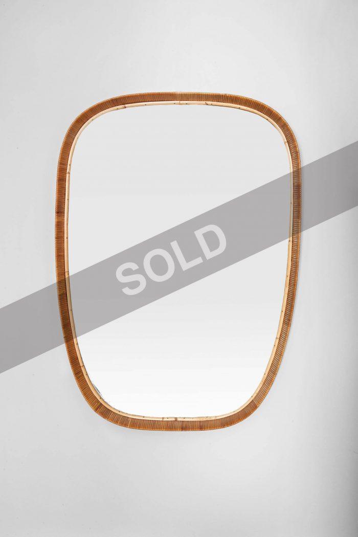 Sokeva rattan framed mirror