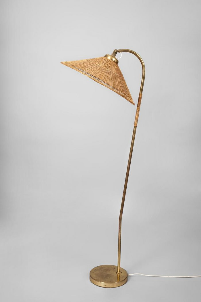 Paavo Tynell brass and cane lamp