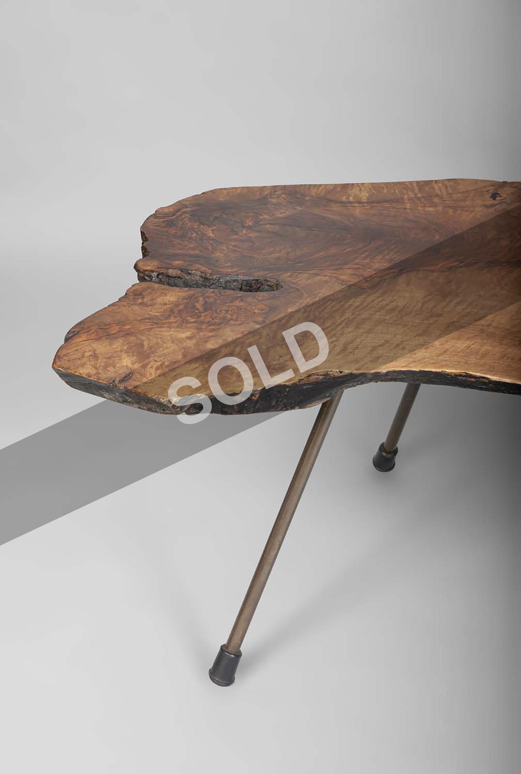 Carl Aubock walnut coffee table